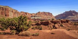 Capitol Rafowy park narodowy w Utah obrazy royalty free
