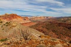 Capitol Rafowy park narodowy w wiośnie obrazy stock