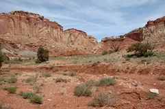 Capitol Reef. Red sandstone formation at Capitol Reef National Park Royalty Free Stock Image