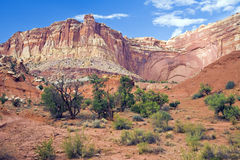 Capitol Reef Bluff Wide Stock Image