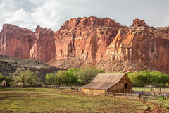 Capitol Reef farm Royalty Free Stock Image