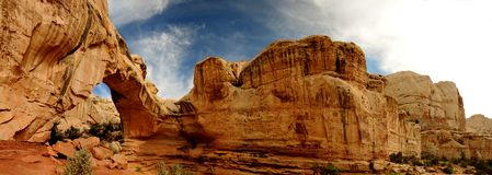 Capitol Reef National Park. Stone arch in Utah National Park Royalty Free Stock Image