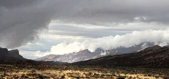 CAPITOL REEF NATIONAL PARK area, GARFIELD CO, UTAH - 2016-09-29 - gathering storm at east end burr trail -03a Royalty Free Stock Photos
