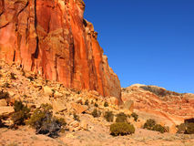 Capitol Reef Rock Formations Royalty Free Stock Photos