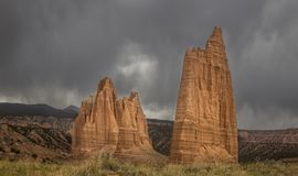 Capitol Reef`s Cathedral Valley royalty free stock image