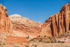 Capitol Reef Trails Sign Royalty Free Stock Image