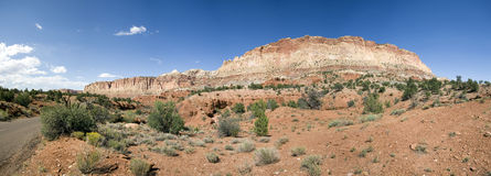 Capitol reef. A view on capitol reef national park with a road crossing Stock Photos