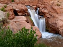 Capitol Reef Waterfall Stock Photography