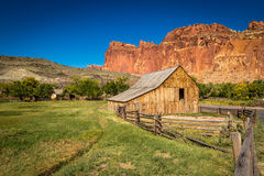 Capitol Reef Wooden Barn royalty free stock images