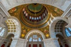 Capitol rotunda w Rhode - wyspa obrazy stock