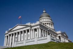 Capitol Salt Lake City. Back view of the Salt Lake City Capitol building Royalty Free Stock Image