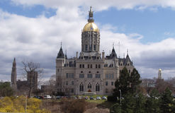 Capitol Springtime. State Capitol Building, Hartford Connecticut Royalty Free Stock Photos