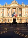 Capitol square. The famous capitol square in toulouse which attracting many tourism crowd Royalty Free Stock Photos