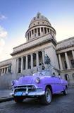 capitol stary samochodowy Havana fotografia royalty free