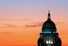 Capitol Sunset. Rhode Island State House at sunset stock image
