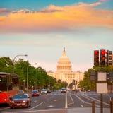 Capitol sunset congress Washington DC Royalty Free Stock Photos