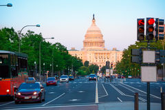 Capitol sunset congress Washington DC Royalty Free Stock Photography
