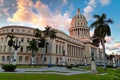 capitol uprawia ogródek Havana ludzi Obrazy Stock