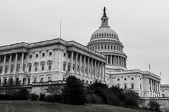 The capitol of the US, Washington. The US capitol in washington is a famous architectural work and an important building for governmental uses by politicians Royalty Free Stock Image