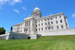 Capitol van de voorzienigheidsstaat stock afbeeldingen