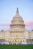 Capitol w washington dc 7, 2017 - piękny wieczór widok - washington dc KOLUMBIA, KWIECIEŃ - Zdjęcia Stock