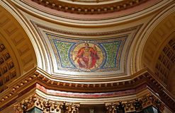 Capitol Walls. The walls inside of the Wisconsin State Capitol Stock Image