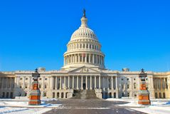 Capitol in winter time Stock Photos