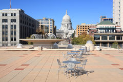 Capitol Wisconsin, from rooftop of Monona Terrace Stock Image