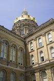 capitol zbliżenia Iowa stan Fotografia Royalty Free