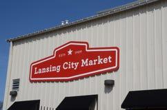 Capitol zijaanzicht van Lansing Royalty-vrije Stock Afbeeldingen