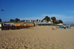 Capitola θαλασσίως σε κεντρική Καλιφόρνια Στοκ εικόνες με δικαίωμα ελεύθερης χρήσης