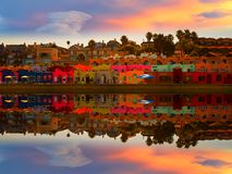 Capitola Beach In Magical Sunset Stock Photos
