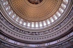 capitoldc-kupol inom rotunda oss washington Fotografering för Bildbyråer
