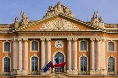 Capitole святой Испания фасада eulalia детали собора barcelona Каталонии toulouse Франция Стоковые Изображения RF