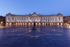 Capitole de Toulouse at evening royalty free stock photo