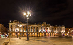 Capitole de Toulouse by night - France, Midi-Pyrenees Stock Photography