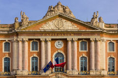 Capitole. Detail of the facade. Toulouse. France Royalty Free Stock Images
