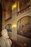 Capitole inre Huvudsaklig korridor toulouse france royaltyfria foton