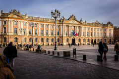 Capitole square and city hall. Toulouse. France Royalty Free Stock Images