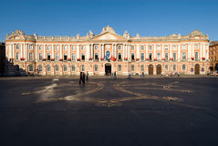 The Capitole of Toulouse. And the square of the same name. Today the Capitole houses the city hall, opera company and symphony orchestra. The Salle des stock photo