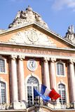 Capitole, Toulouse. Facade of the Capitole of Toulouse Royalty Free Stock Photo