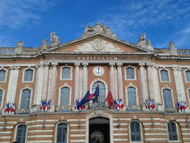 Capitole,  Toulouse. Facade of the Capitole in Toulouse,  France Stock Images