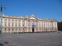 The Capitole in Toulouse. Capitole square in Toulouse, France Stock Image