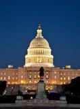 Capitolen på natten Arkivbild