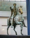 Capitoline博物馆-原始的马尔库斯・奥列里乌斯雕象 免版税库存照片