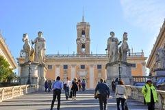 Capitoline小山在罗马。 库存图片