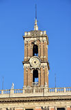 Capitoline小山老钟楼在罗马 库存照片