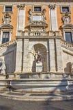 Capitoline小山,智慧女神,罗马,意大利雕象  图库摄影