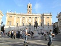 Capitoline Музей Площадь del Campidoglio Рим Европа стоковая фотография