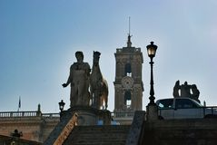 罗马Capitoline上升,意大利 图库摄影